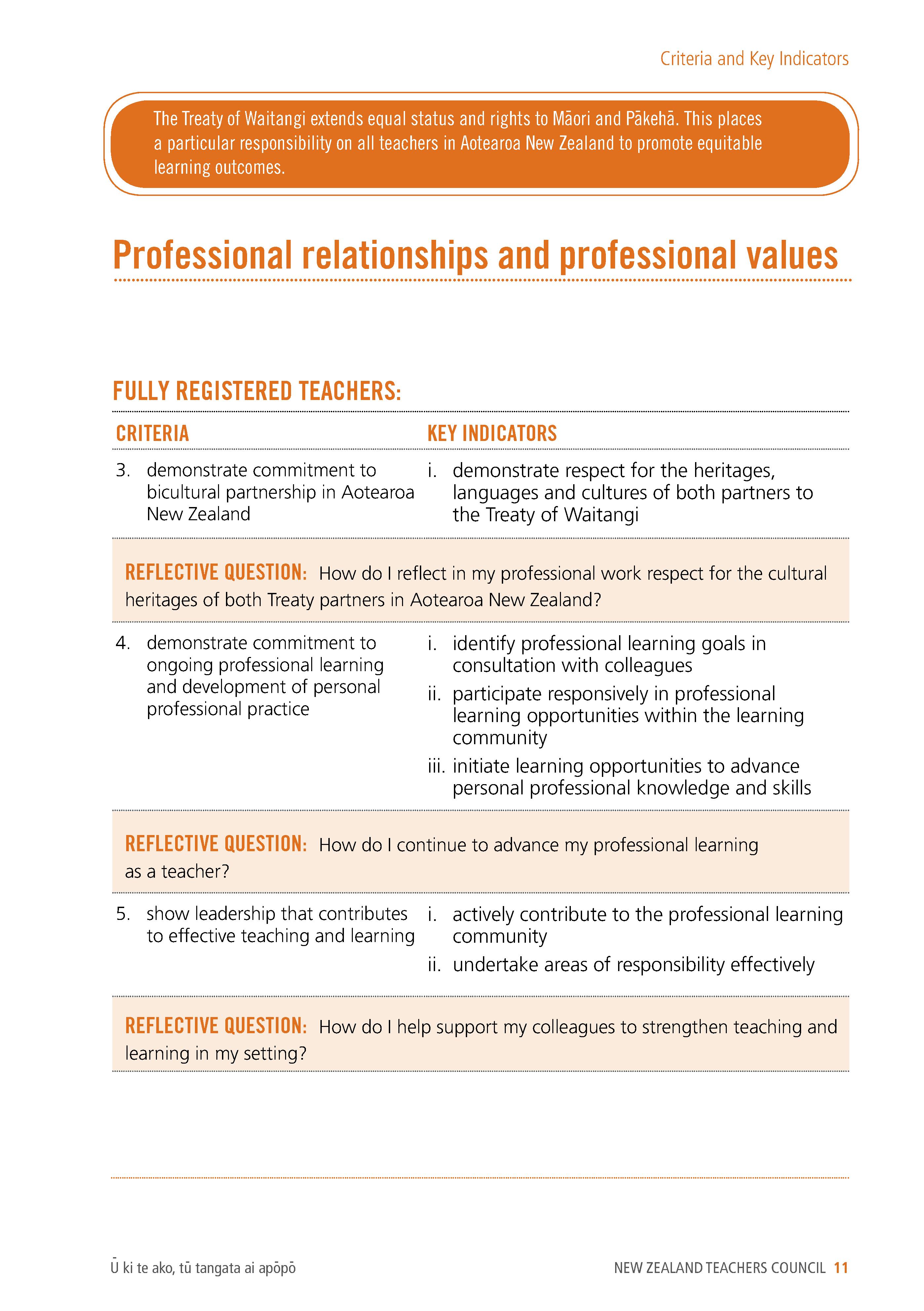 Ptc Practising Teacher Criteria